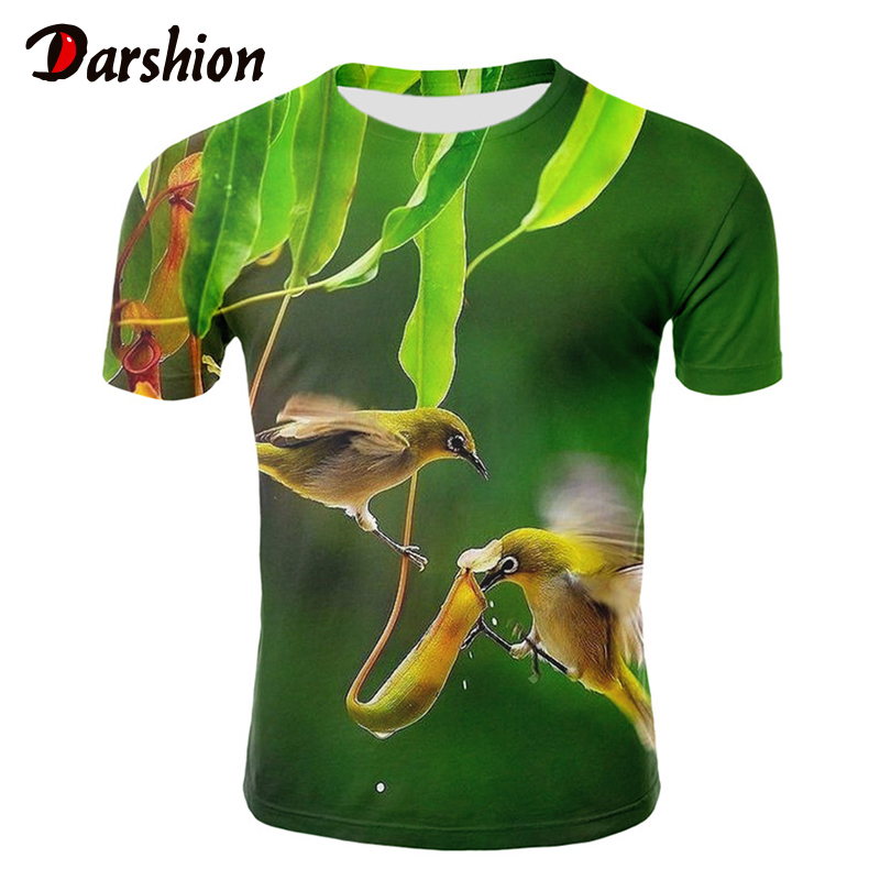 Milk silk 3D nature / landscape printing man woman   t     shirt   clothes short-sleeved O-neck 3d sky/grassland/trees men   shirt     T  -  shirt