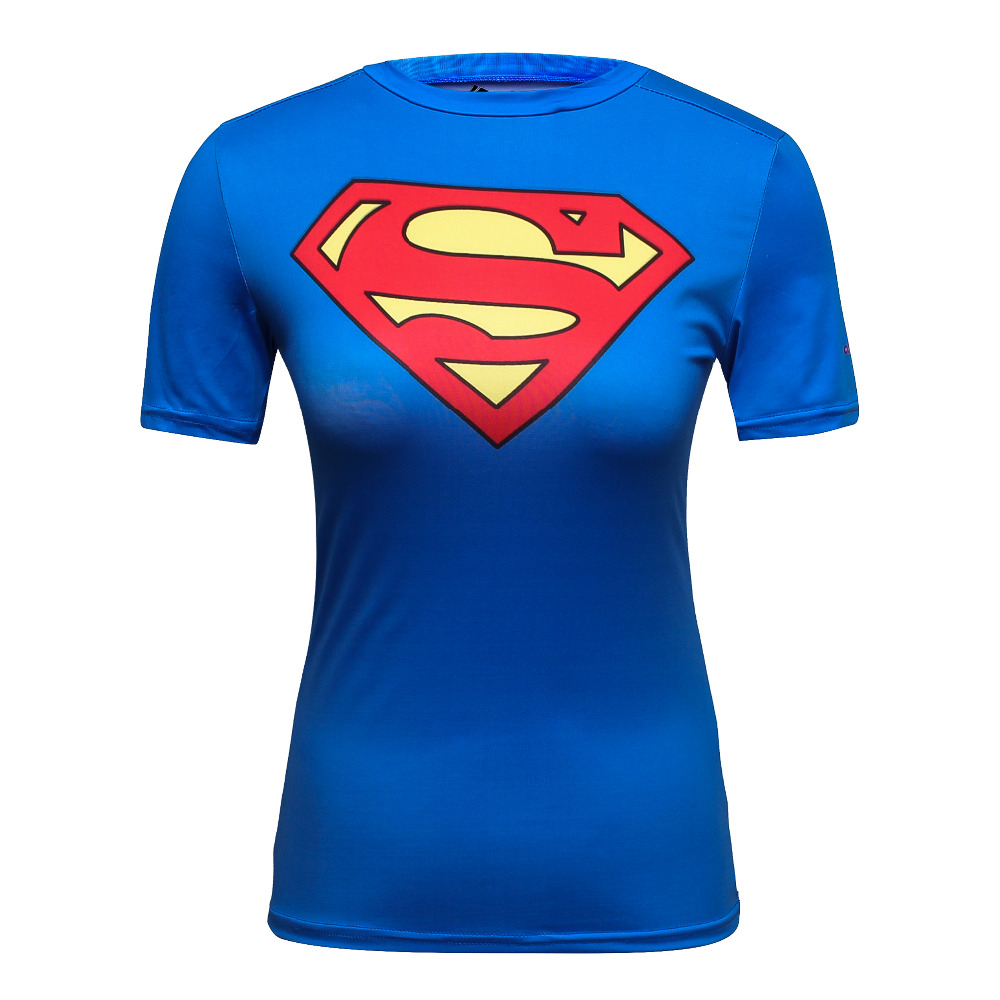 Cody Lundin DC Comics Batman Vs Superman Super Red Heart Logo T Shirt Compression Fitness Sports Running Yoga Custome T Shirt