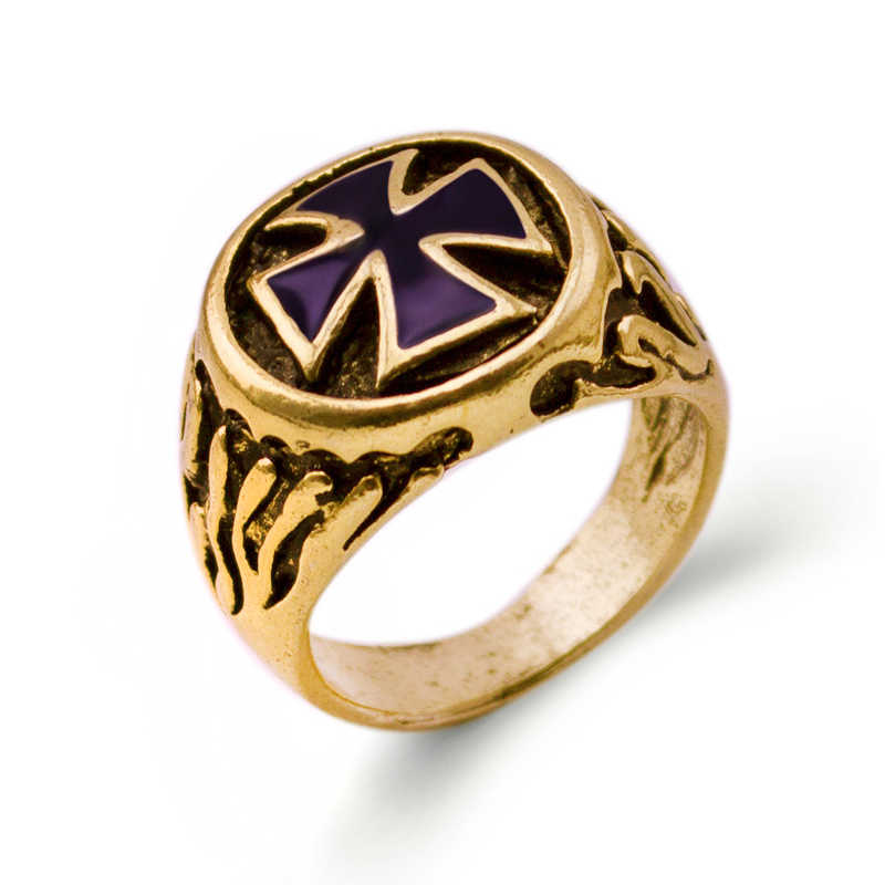 Top Quality Vintage Punk Cross Rings for Women Jewelry Wholesale Gold Color Statement Rings Men