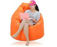 Outdoor Indoor Tear Drop Bean Bags 44 Inch Sofa Cover In Beige