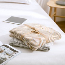 Home Decorative Cotton Thread Blanket Coverlet Shawl Yarn Knitted Sofa Throw Couch Plane Portable Travel Blankets