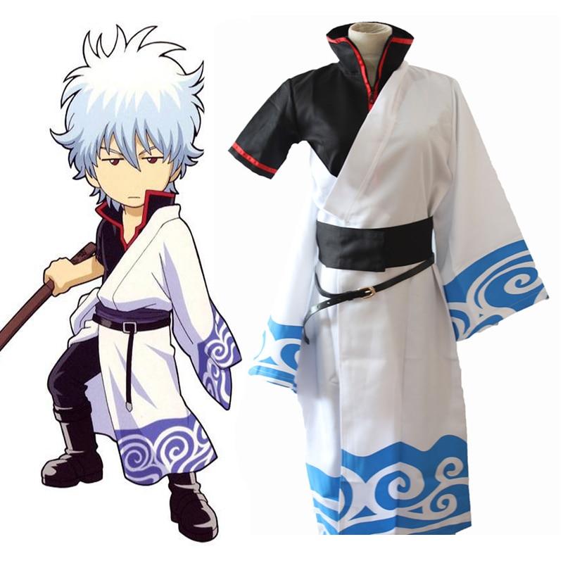 Halloween Cosplay Costume Man Japanese Anime GINTAMA Kimono Party Show COS Suit