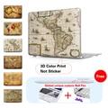 Mapa Del Mundo antiguo Caja Dura Mate Para Macbook Air 11 de Aire 13 Pro 15 Pro Retina 13 15 Para mac book air 13 Cubierta Del Teclado caso