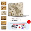 Old World Map Matte Hard Case For Macbook Air 11 Air 13 Pro 15 Pro Retina 13 15 For mac book air 13 case Keyboard Cover