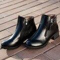 Женщины Кожаные Сапоги Мартин Ботинки Женщин Мотоцикла Сапоги Осень Женская Обувь Лакированная кожа Botas
