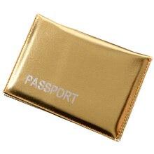 Elegant Smoot Passport Cover Gold Ladies girls Gold Passport Holder Rusia Passport Case passport holder pasaporte funda