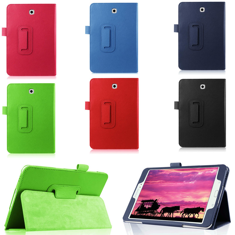 4W Flip PU Leather Book Case Lichi Pattern Stand  Cover For Samsung Galaxy tab S2 8.0 T715C T710 T715 SM T713 T719 Tablet PC g cover pu leather hand bag for ipad 2 3 4 samsung galaxy tab p5100 10 table pc blue
