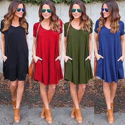 Online-Shop Frauen Urlaub Mini Overall Damen Sommer-strandkleid ...