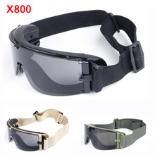 X800 Military Tactical Glasses Army Paintball Airsoft Goggles Shooting Hunting W