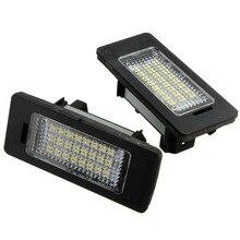 2Pcs 24 LED White License Plate Light Number Lamp For BMW E81 E82 E90 E91 E92 E93 E60 E61 E39 X1/E84 E-marked OBC Error Free