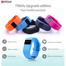 ZeblazeTW64S Heart Rate Monitor Pulso Inteligente Banda Pulse Measure Smart Band Sport Smart Wristband Health Fitness