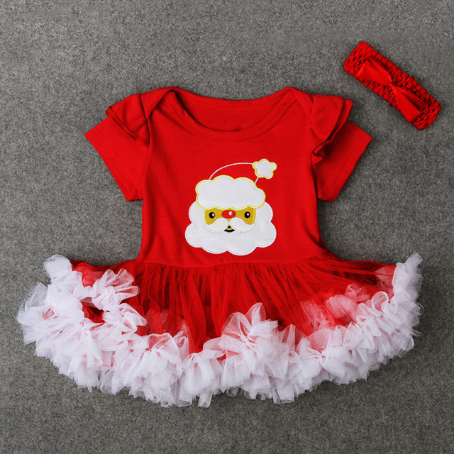 4cbd67cec799 Tutu Dress Cute Clothes Sets Festival Baby Girl Gifts Santa Claus Christmas  Xmas Presents Outfits