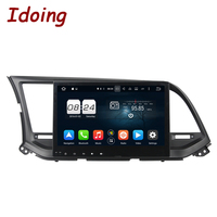 Idoing 10 1 8Core 2G 32G 2Din Steering Wheel For Hyundai Elantra Android 6 0 Car