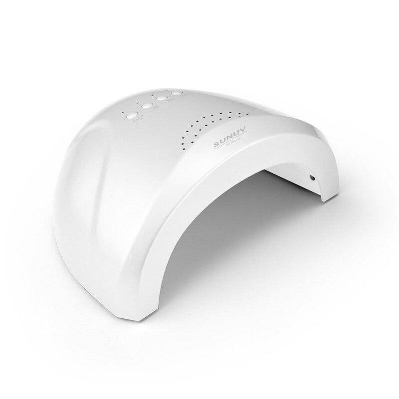 48 W/24 W Detección automática uñas lámpara UV lámpara LED secador de uñas para curar todas Gel UV uñas profesional uñas máquina SUNone