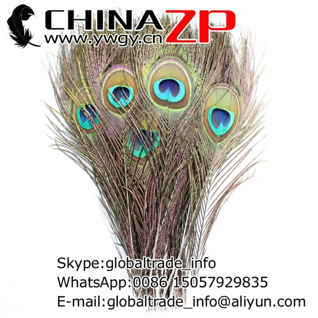 CHINAZP Factory 60-70cm Length 500pcs/lot Good Quality Big Eye Natural Peacock Feathers
