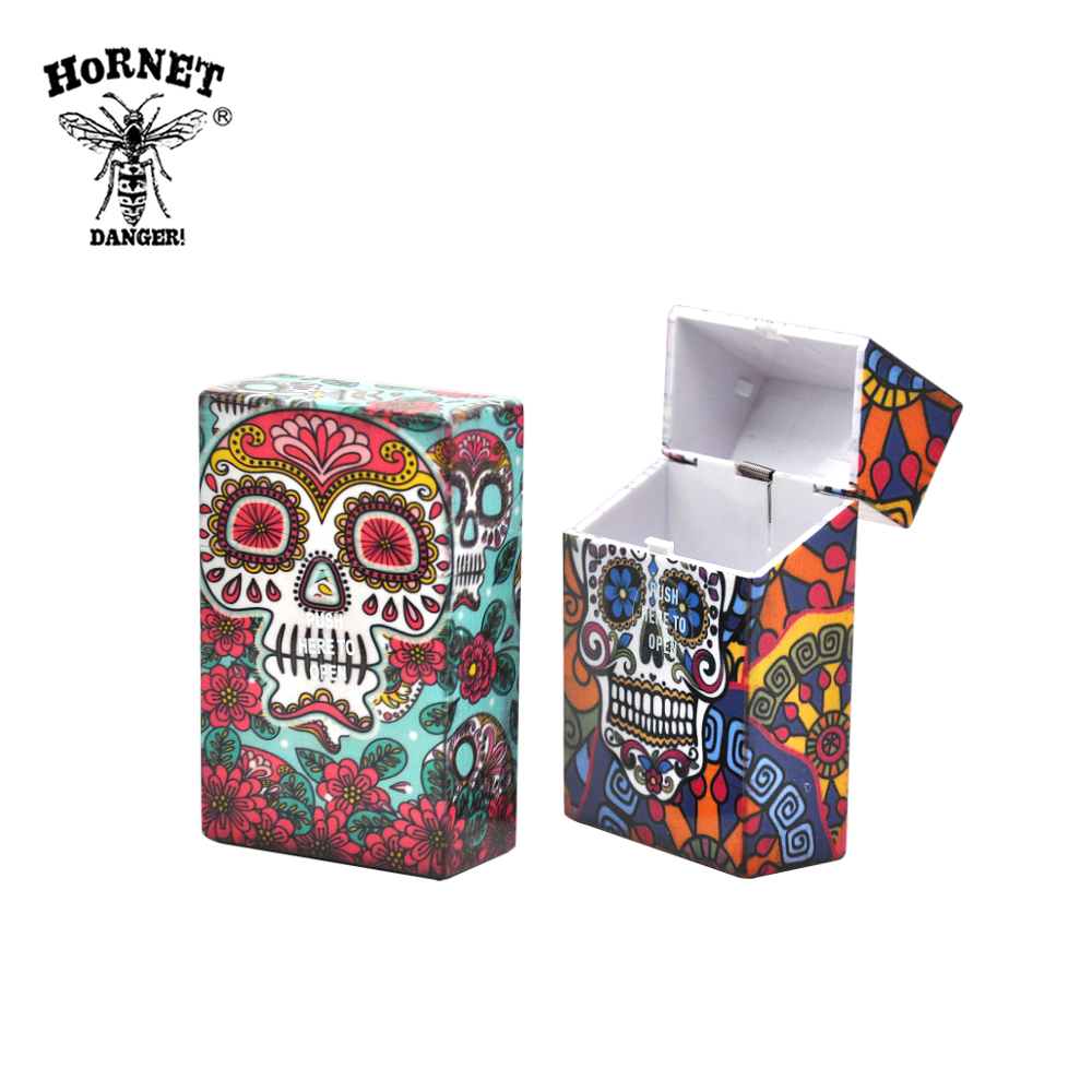 Image 4 - Fancy Design Butterfly & Skull Plastic Cigarette Case Size 95mm*60mm Cigarette Box Tobacco Storage Case Cigarette Case Cover-in Cigarette Accessories from Home & Garden