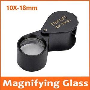 10X18mm de Metal do Bolso Filtro Jadeíta Super Lente Triplet Lupa Jóias Gem Identificação Tipo Inspecionando Lupa Lupa
