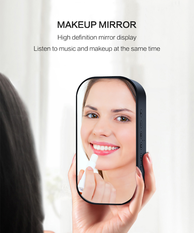 Bluetooth Mirror Alarm Clock with Speaker and FM Radio including Time and Temperature Display Useful for Listen to Music and Makeup at the Same Time 16