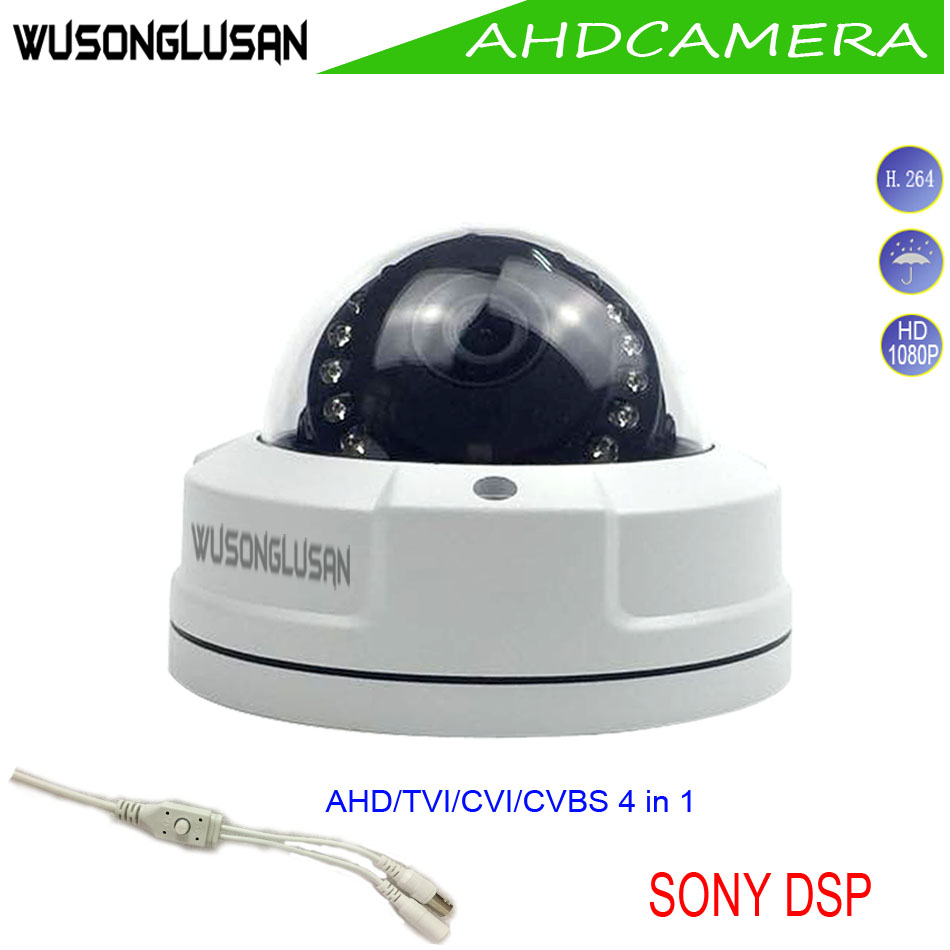 Dome Camera Metal AHD Analog TVI CVI 2MP 4MP Outdoor Waterproof 15 IR light IR Cut filter Night Vision For CCTV Home Security new 1 3mp ahd tvi cvi analog cvbs 4 in 1 ir night vision utc osd camera 2500tvl camera security cctv camera