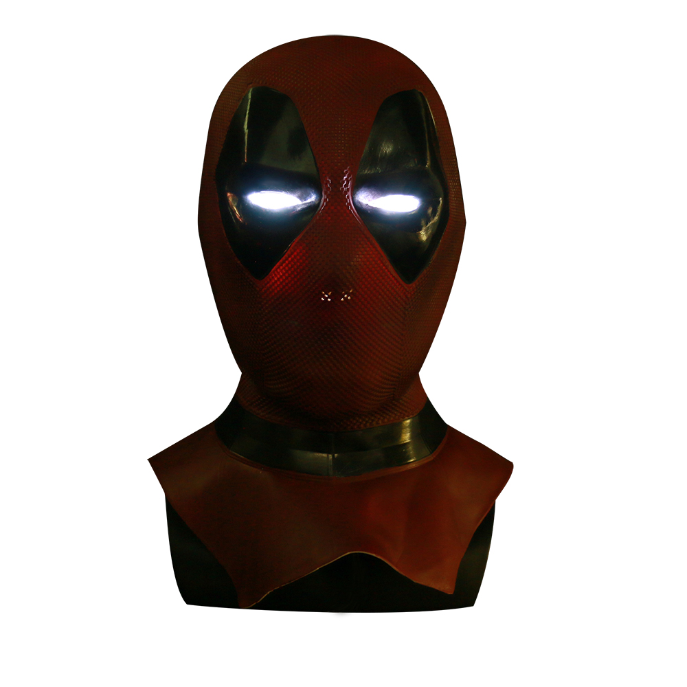 Deadpool Cosplay masque Wade Wilson Dedpul Costume Deuce sous-marin décharge d'un papa chapellerie adultes Halloween luminescente Latex