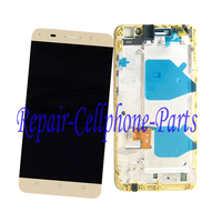 Gold 100% New Full LCD DIsplay + Touch Screen Digitizer + Frame Cover Assembly For Huawei G Play / G735 L03 Free shipping