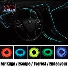9 М Набор EL Провода/Для Ford Kuga/Побег/Maverick/эверест/Endeavour/Гибкий Неон Холодный Свет/Консоли Декоративные Полосы