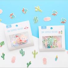 1pcs Cartoon flamingos paper sticker DIY decoration stickers diary photo album scrapbooking planner label