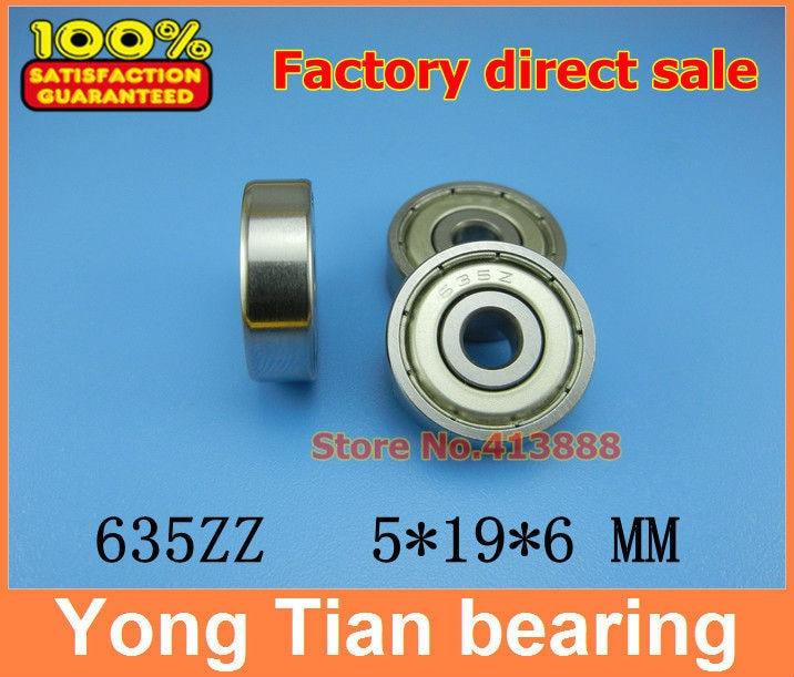 Прямая с фабрики 635 635ZZ 635-2RS S635ZZ S635-2RS R-1950ZZ 80035 5*19*6 мм миниатюра высокого качества шариковый подшипник с глубоким жёлобом