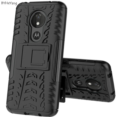 Heavy Duty Armor Case For Motorola Moto G7 Power Cover Slim PC Soft Rubber Phone Holder Case Fit G7 Power European Version Shell