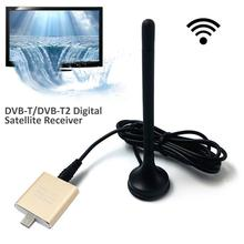 New DVB-T/DVB-T2 H.265 Android TV Tuner Pad TV Tuner Digital Satellite Receiver TV Stick Dongle Receiver For Android Phone