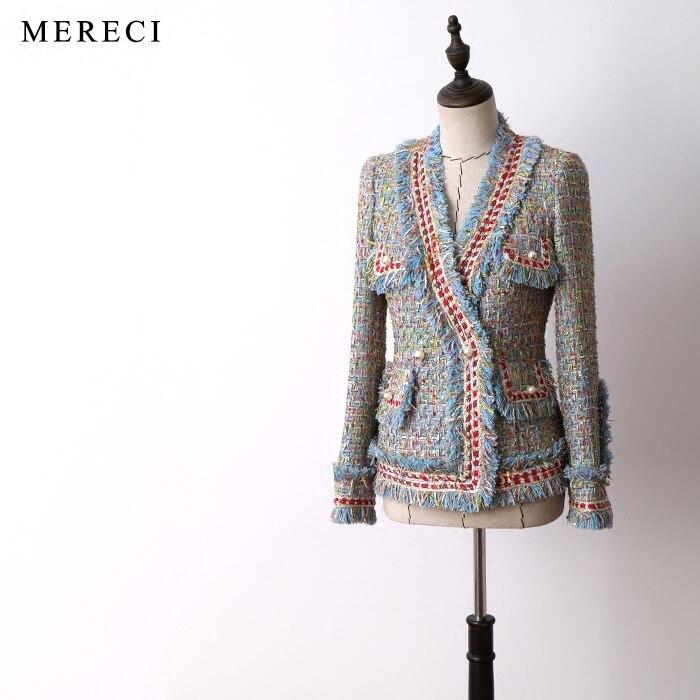 Новые пальто куртка Изысканная Золотая синяя жемчужная Пряжка маленький ароматный Бриз короткое пальто