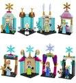 8 unids Mini Cifras Princesa Anna Elsa Olaf Lepine Bloques de Construcción de Juguete de Navidad regalos Compatible LegoINGlys Amigos Para Niña