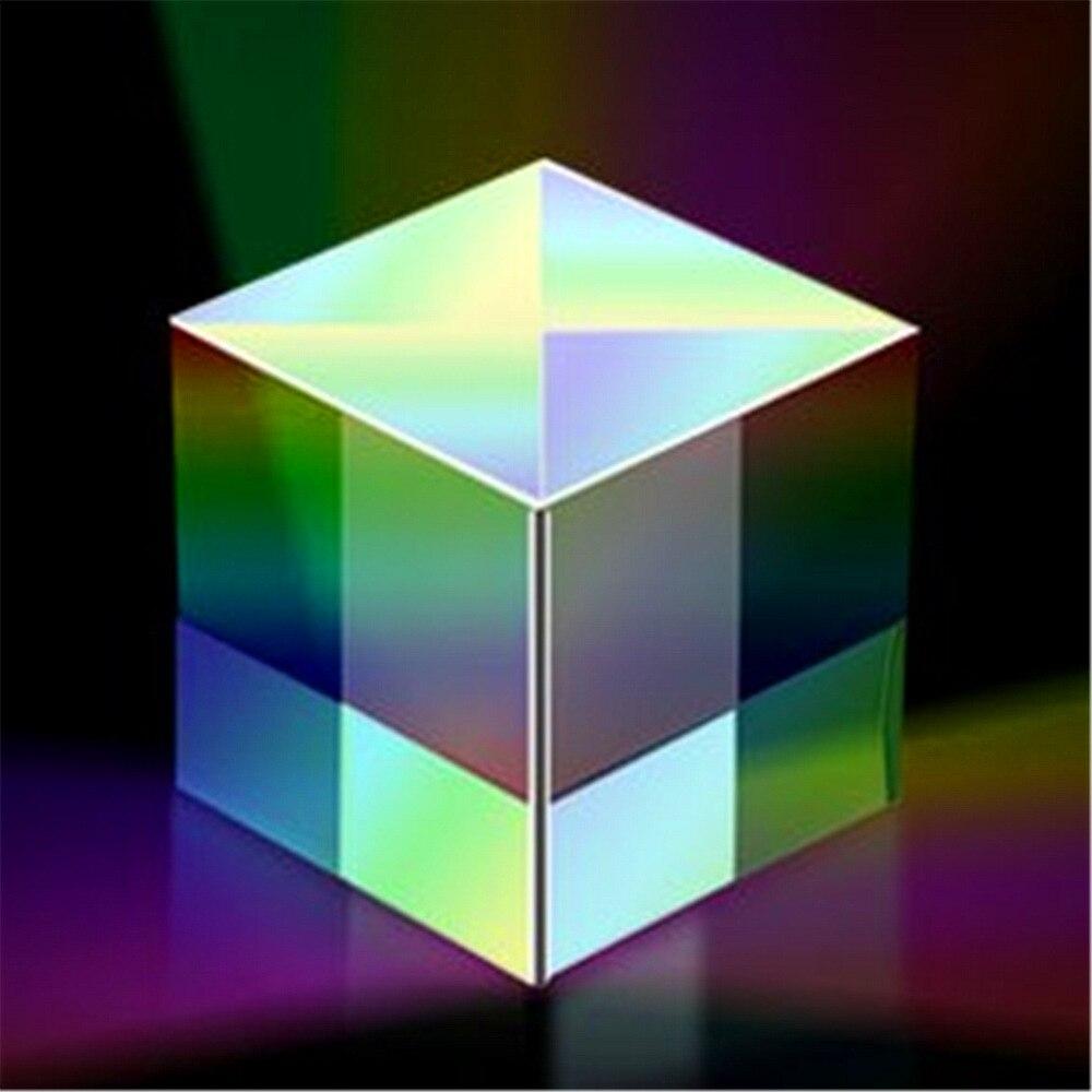 1 Pc 2.5*2.5*2.5cm Cube Defective Cross Dichroic Prism RGB Combiner Splitter Glass Decoration science toys 6x6x5cm defective lens splitter prism cross dichroic x cube prism rgb combiner