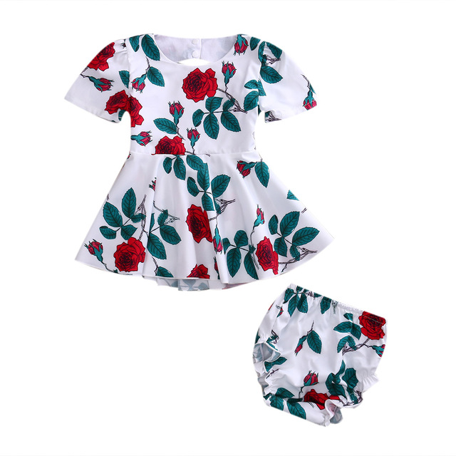 d19c5440f978 Pretty Toddler Infant Baby Kids Girls Summer Short Sleeve Backless ...