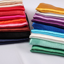 Glossy Crepe Satin Shiny Thick Polyester Fabric Wedding Baseball Coat Summer Dress Making 150cm wide sold by yard
