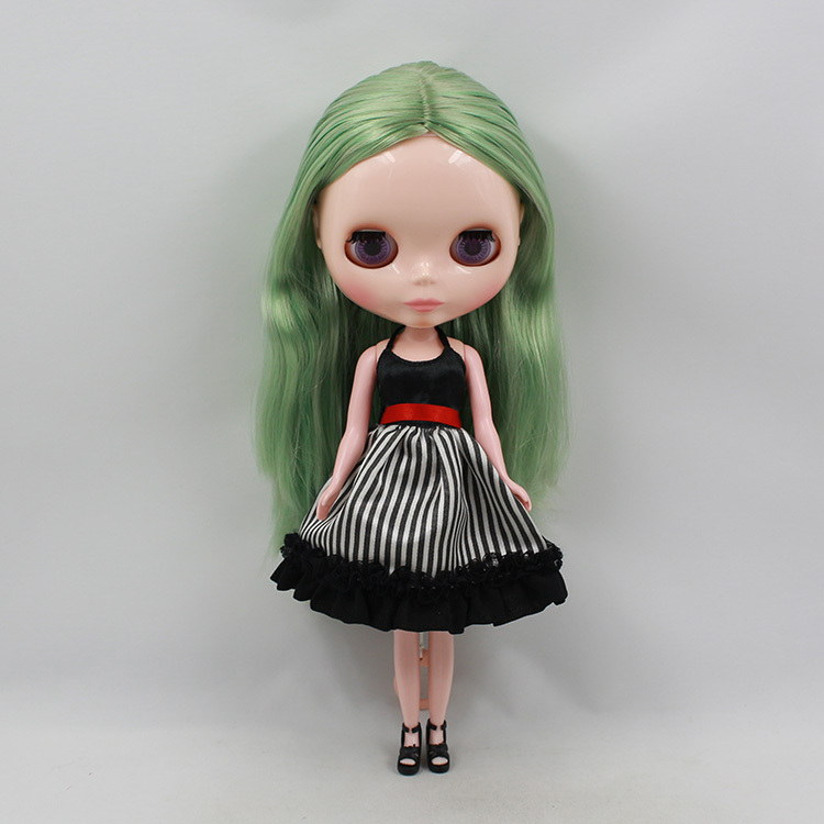 B52 Nude blyth Doll Factory doll blond hair black skin