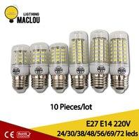 10 sztuk E27 E14 doprowadziły światło Kukurydzy 220 v wysokiej jakości lampada doprowadziły kukurydzy lampa led spotlight lampy dla domu w gorącej sprzedaż SMD5730 żarówka Kukurydzy