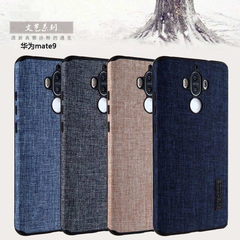 For Huawei Mate 9 Case Luxury Linen+Silicone Case For Huawei Mate 9 Pro Cover Back Soft Fit Slim Phone For Huawei Mate9