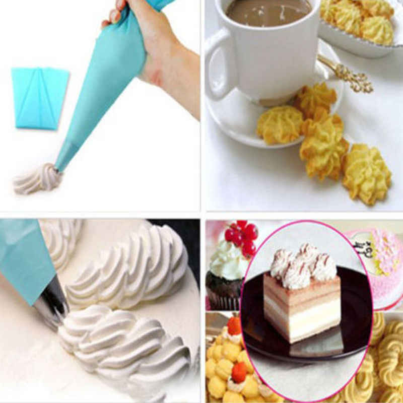 2018 Newest Hot 3 Sizes Cake Decorating Tool DIY Silicone Reusable Icing Piping Cream Pastry Bag