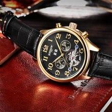 Men Original Luxury Brand Tourbillon Automatic Mechanical Watches  Relogio Masculino