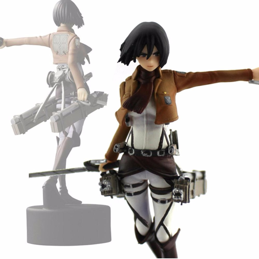 Toys Action Figures Trendy Japaness Anime High Quality 4.7/12cm No Kyojin Mikasa Figure Figurine Gift Attack On Titan Ackerman trendy japaness anime 4 7 12cm shingeki no kyojin mikasa ackerman pvc figure figurine toys gift attack on titan