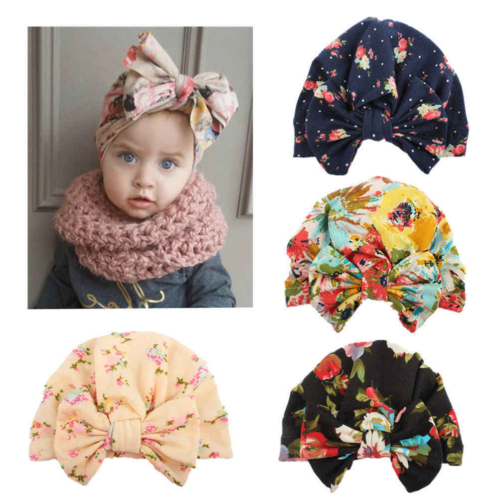 Newborn Baby Infant Girl Toddler Comfy Bowknot Beanie Hat//Hairband Headwrap