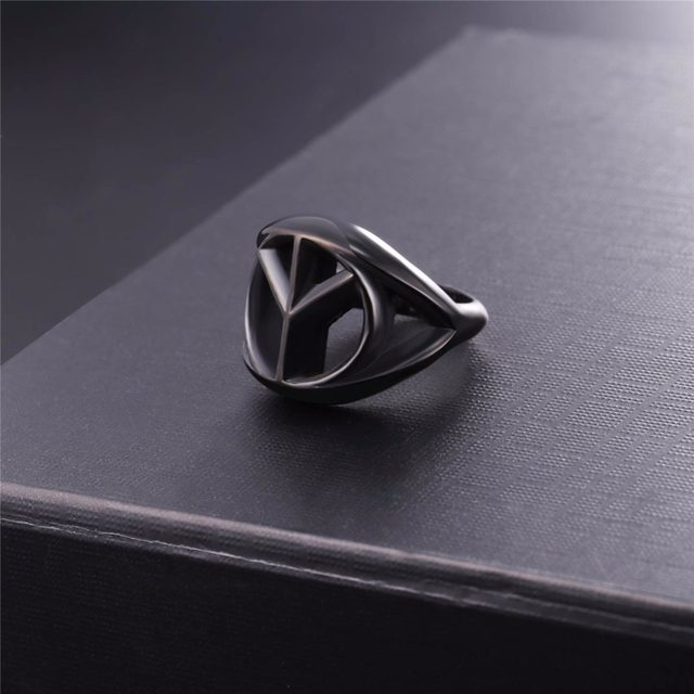 Online Shop Starlord Peace Sign Ring Never Fade Stainless Steelgold