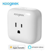 "Koogeek Wi Fi חכם שקע עבור אפל HomeKit אמזון Alexa קול בקרת App שליטה חכם תקע טיימר אנרגיה ניטור ארה""ב Plug"