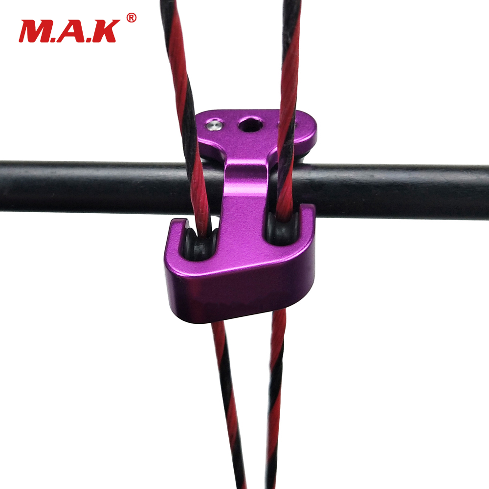 Hot Sell String Splitter Cable Slider Use Plastic in Red/Purple/Black for Compound Bow Archery Hunting Shooting