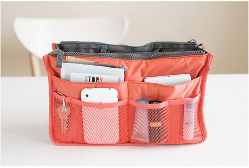 SIKOTE Double zipper Cosmetic Bags Makeup Bag Women Travel Organizer Professional Storage Brush Necessaries Make Up Case Beauty