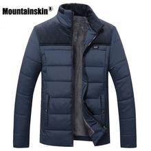 Mountainskin Thick Winter Coats Men's Jackets 4XL Fleece Casual Parkas Men Outerwear Solid Male Jackets Brand Clothing SA348