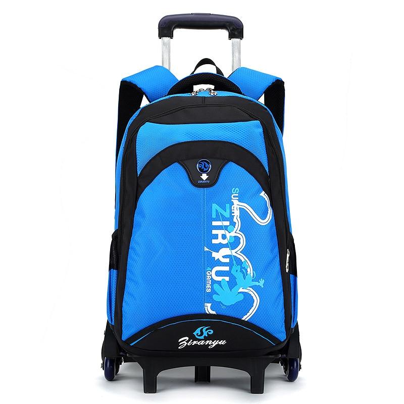 High quality waterpoof Girls school bag Trolley SchoolBags removable Children Fold Backpack boy Kids Luggage Mochila Infantil