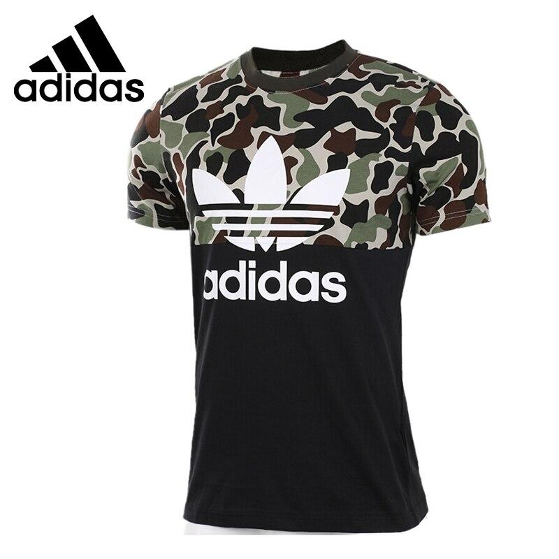 Оригинальный Новинка 2017 adidas Originals S/S камуфляж цвет Мужские футболки с коротким рукавом спортивная ...