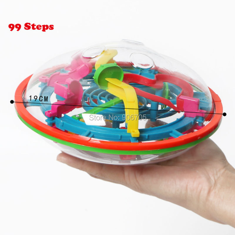 99-299 Koraci 3D Magic Intellect Ball Mramor Puzzle IQ igre perplexus - Igre i zagonetke - Foto 3